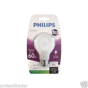 Philips SlimStyle 10.5W 60W Soft White A19 Dimmable LED Light Bulb